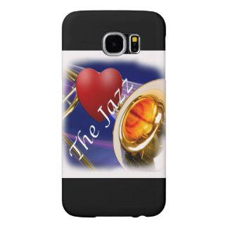 Jazz Iphone, Ipad del amor del músico del Trombone Fundas Samsung Galaxy S6
