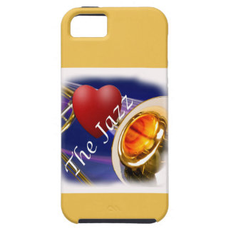 Jazz Iphone, Ipad del amor del músico del Trombone iPhone 5 Funda