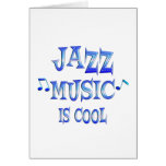 Jazz is Cool Greeting Card