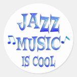 Jazz is Cool Round Sticker