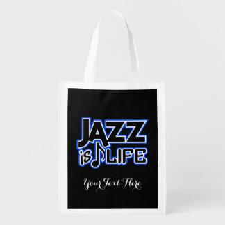 JAZZ IS LIFE custom reusable bag Grocery Bag