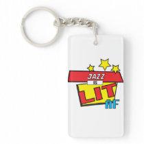 Jazz is LIT AF Pop Art comic book style Keychain