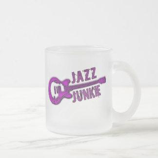 JAZZ JUNKIE FROSTED GLASS COFFEE MUG