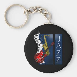 Jazz Basic Round Button Keychain