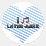 Jazz latino pegatinas redondas