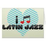 Jazz latino tarjeta