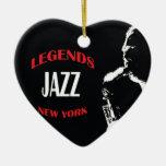 Jazz Legends New York Christmas Ornaments