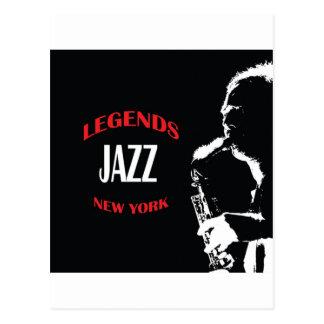 Jazz Legends New York Post Card