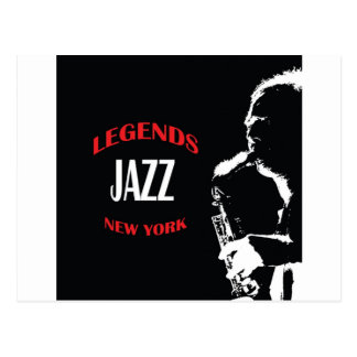 Jazz Legends New York Post Cards
