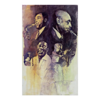 Jazz Legends Parker Gillespie Armstrong Posters