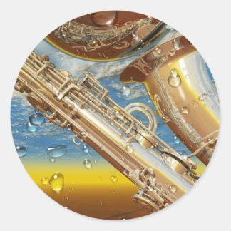 Jazz Lenny Art Contemporary Surrealist Classic Round Sticker
