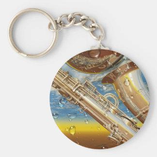 Jazz Lenny Art Contemporary Surrealist Keychain