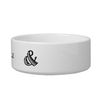 Jazz Letterpress Ampersand Black Bowl