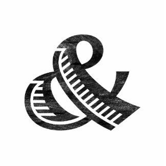 Jazz Letterpress Ampersand Black Cutout