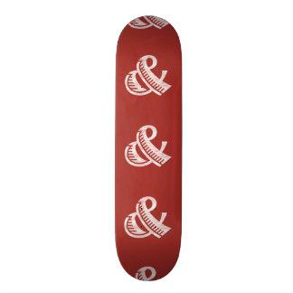 Jazz Letterpress Ampersand White Skateboard Deck