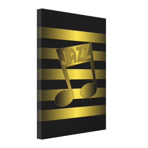 jazz lienzo envuelto para galerías