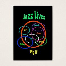 Jazz Lives ATC Business Card at Zazzle