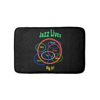 Jazz Lives Bath Mats