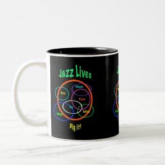Jazz Lives mug