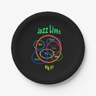 Jazz Lives Paper Plates