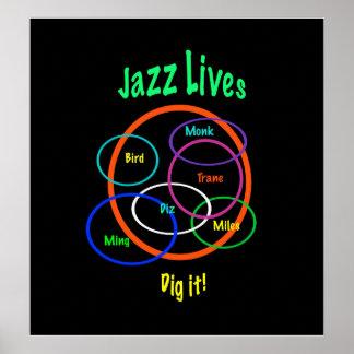 Jazz Lives Print