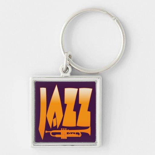 Jazz Llavero Cuadrado Plateado