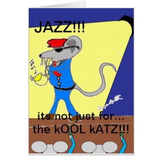 jazz lover designs card