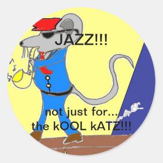 jazz lover designs classic round sticker