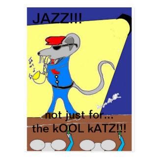 jazz lover designs postcard