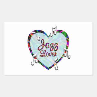 Jazz Lover Rectangular Sticker