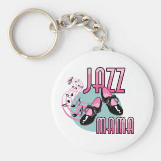 Jazz Mama Tap Dancing Basic Round Button Keychain