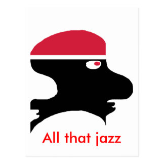 Jazz man postcard