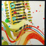 "Jazz Microphone Poster Napkin<br><div class=""desc"">Microphone closeup set on a jazz grunge background</div>"
