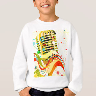 Jazz Microphone Poster Sweatshirt