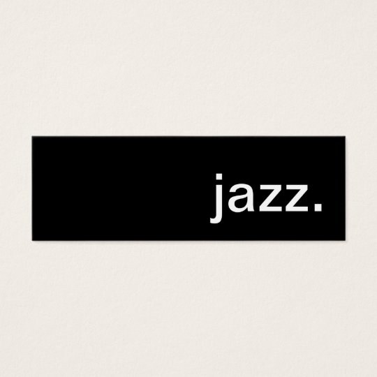 jazz. mini business card