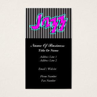 Jazz Music Business Card