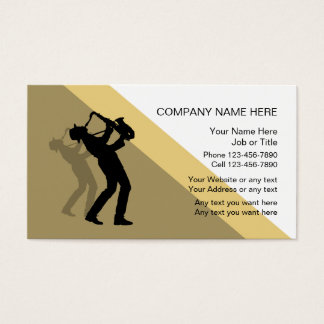 Jazz Music Business Card Template