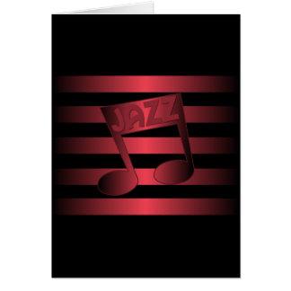 jazz music card