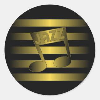 jazz music classic round sticker