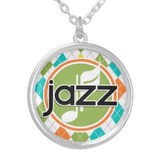 Jazz Music Colorful Argyle Pattern Necklace