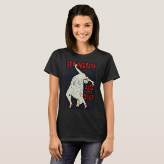 Jazz Music Dancer, New Orleans, T-Shirt