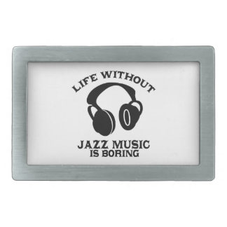 Jazz Music designs Rectangular Belt Buckle