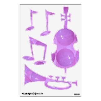 Jazz Music Festival - Dancing Bass Trumpet Wall Skins