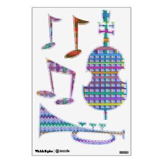 Jazz Music Festival - Dancing Bass Trumpet Room Sticker