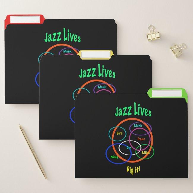 Jazz Music Lives File Folder Set