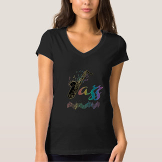 Jazz Music Lover ~ Jazz Notes Rainbow Sax Tee