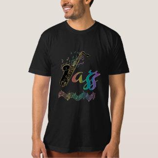 Jazz Music Lover ~ Jazz Notes Rainbow Sax Tee