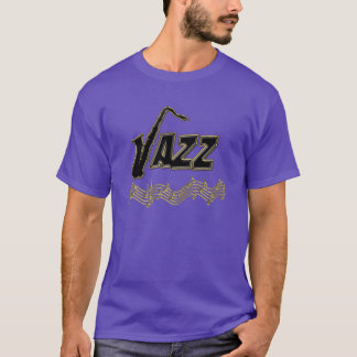 Jazz Music Lover ~ Jazz Notes Sax T-Shirt