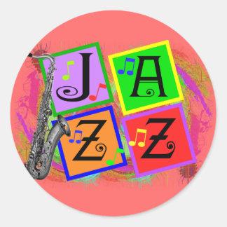 Jazz Music Lovers Gifts Classic Round Sticker