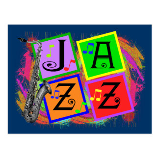 Jazz Music Lovers Gifts Postcard